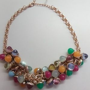 Betsey Johnson New Multi-Colored Bauble Necklace